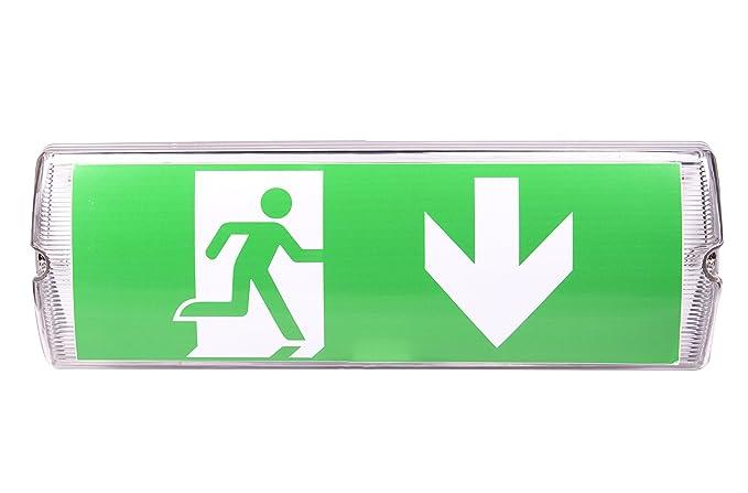 LED Notleuchte Notbeleuchtung Exit Notausgang Fluchtwegleuchte Leuchte Licht