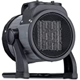 NewAir NGH160GA00, 120V Electric Portable Garage Heater, Heats Up to 160 Square Feet, Garge, Black and Gray