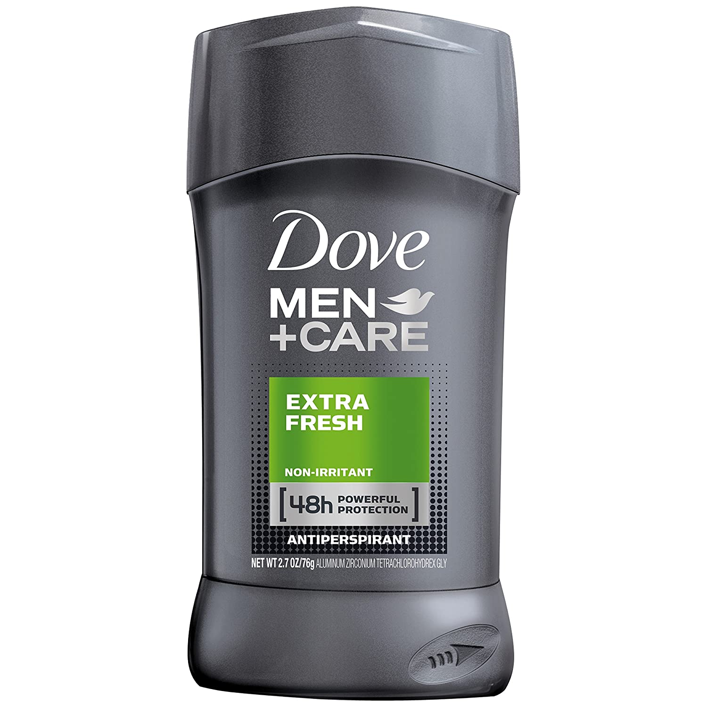 Dove Men+Care Antiperspirant Deodorant Stick, Extra Fresh, 2.7 Oz