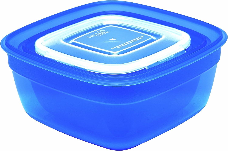 blau Lock /& Lock Isi Frischhaltebox-Set quadratisch 3-tlg