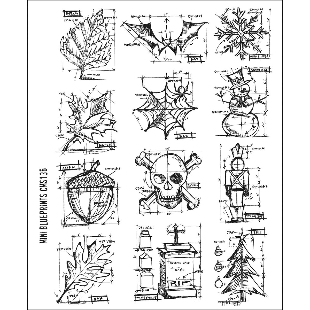 Tim holtz stamps stampers anonymous mini blueprint rubber stamp tim holtz stamps stampers anonymous mini blueprint rubber stamp amazon kitchen home malvernweather Image collections
