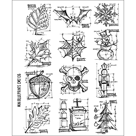 Tim holtz stamps stampers anonymous mini blueprint rubber stamp tim holtz stamps stampers anonymous mini blueprint rubber stamp malvernweather Image collections