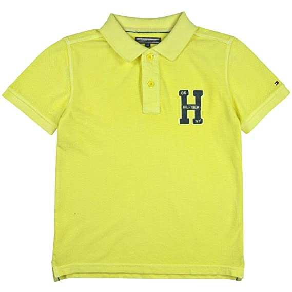 Tommy Hilfiger - Carter GD Polo S/S, Niño, Color Amarillo ...
