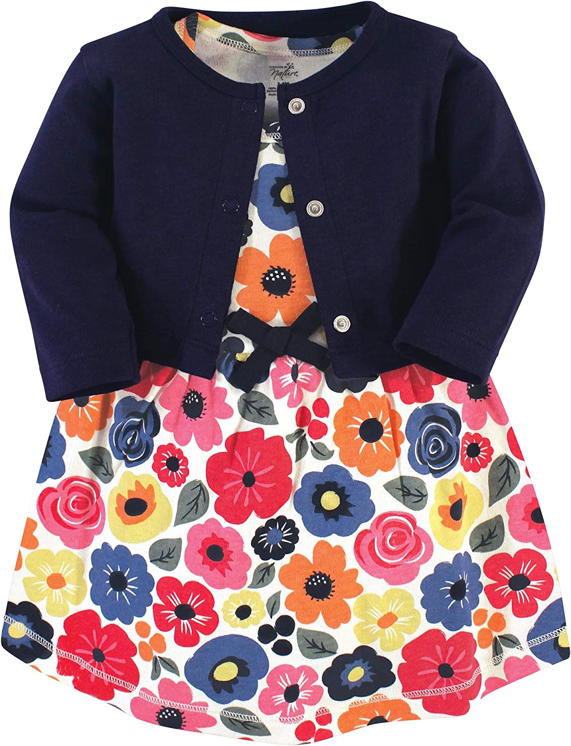 Touched by Nature Baby-Girls Organic Cotton Cardigan and Dress Casual Dress