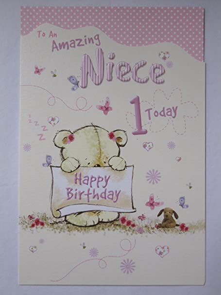 Wonderful colourful to an amazing niece 1 today 1st birthday wonderful colourful to an amazing niece 1 today 1st birthday greeting card m4hsunfo