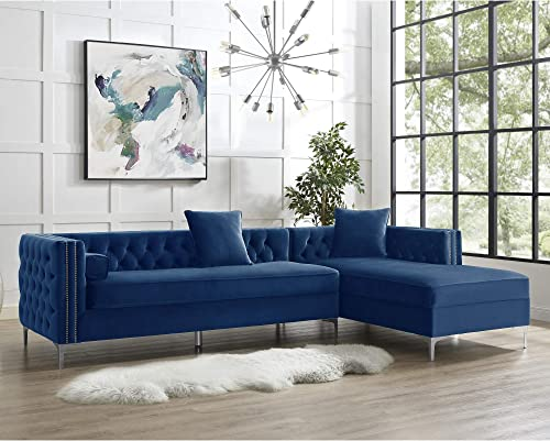 Inspired Home Giovanni Collection Velvet Modern Button Tufted