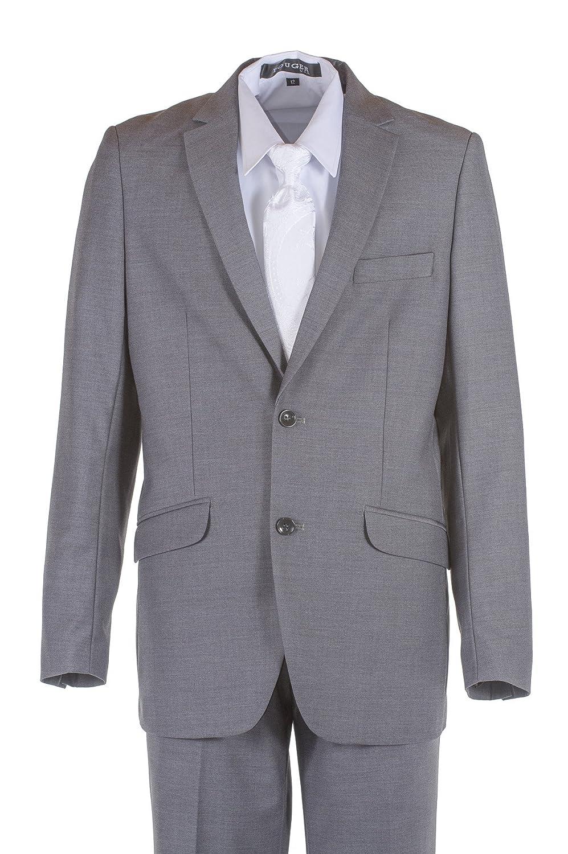 Amazon.com: tuxgear niños gris claro Slim Fit traje de ...