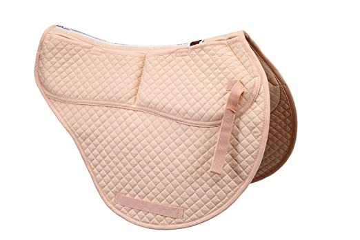 ECP Equine Comfort Products Cotton Correction All Purpose Contoured Saddle Pad - Memory Foam Pockets Peach