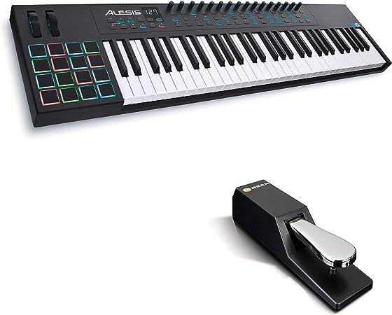 Alesis VI61 + M-Audio SP-2 - Teclado Controlador MIDI USB de ...