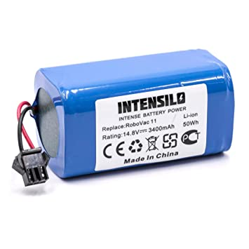 INTENSILO Li-Ion batería 3400mAh (14.8V) para robot limpiasuelos robot autónomo de limpieza Eufy Robovac 11, 11S: Amazon.es: Hogar