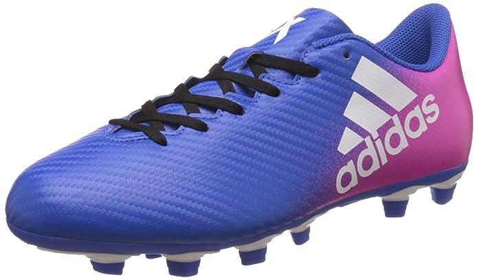 adidas Herren X 16.4 Fxg Fußballschuhe, Blau (Blue/FTWR White/Shock Pink), 42 EU