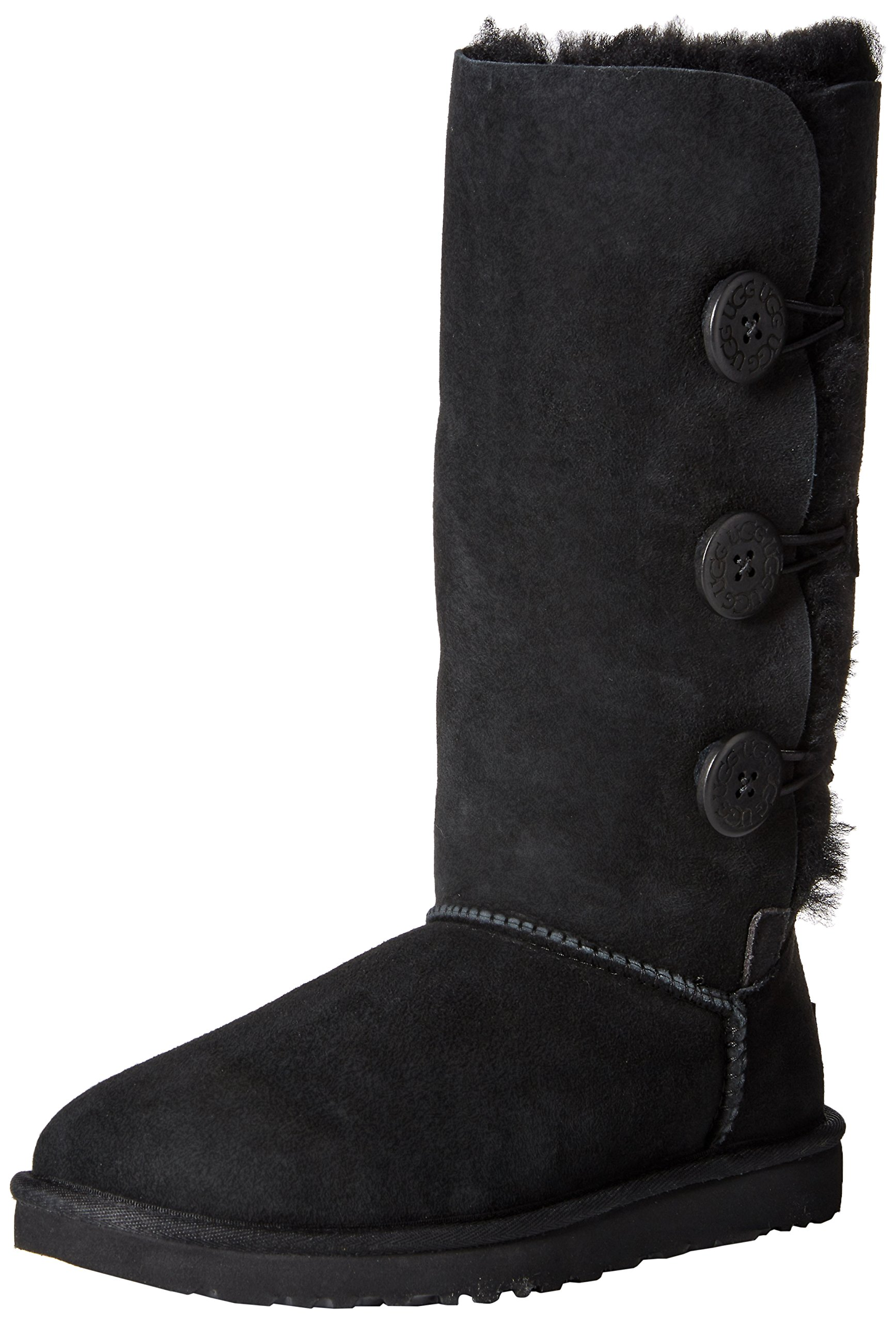Ugg Women's Bailey Button Triplet Boot, Black, 6 M US by UGG (Image #1)