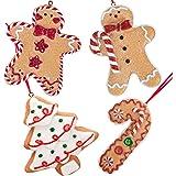 Gingerbread Ceramic Christmas DECORATION MOTIFS TREE GINGERBREAD MAN 3 he set