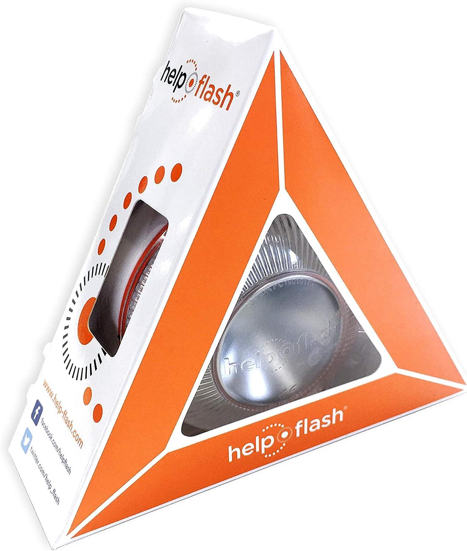 help flash HFAA-01 Luz de Emergencia autónoma-Señal V16 de preseñalización de Peligro homologada, autorizada por la DGT, Blanco