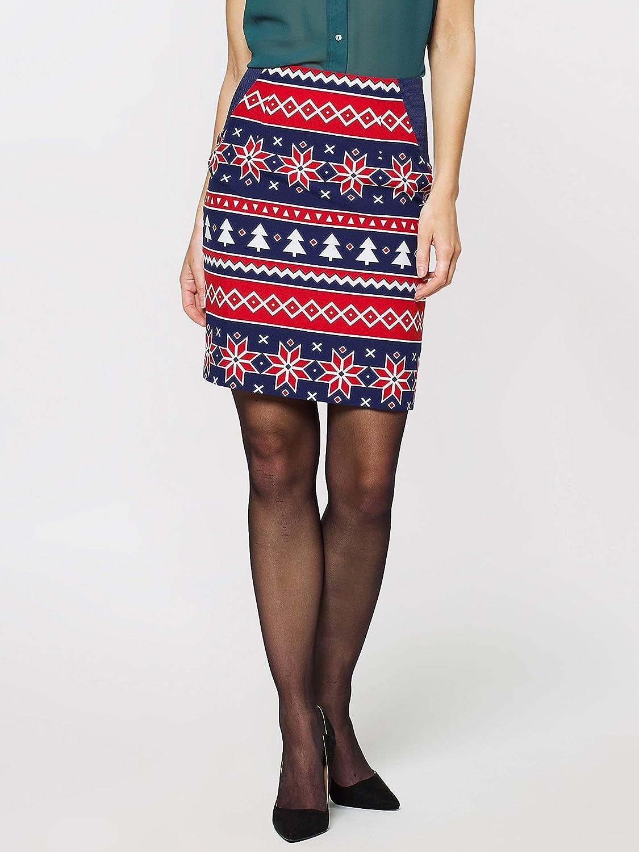 Generique - Nordic Xmas- Opposuits-Damenkostüm Weihnachten Weihnachten Weihnachten blau-rot-Weiss M/L (42) 6e14a2