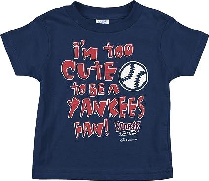 NB-4T Navy Onesie or Toddler Tee Anti-Yankees Rookie Wear by Smack Apparel Boston Baseball Fans Too Cute