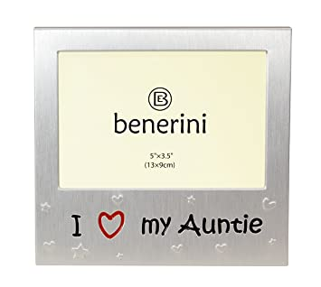 I Love My Auntie - Expressions Photo Picture Frame Gift - 5 x 3.5 ""