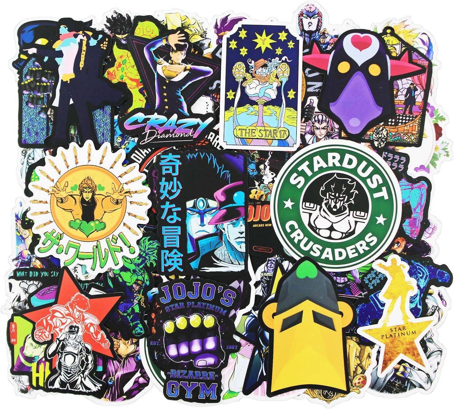50 St/ück//Pack von JoJos Bizarre Adventure Cool Sticker to Kid Teen Kind /ästhetisch wasserdichte Vinyl-Aufkleber f/ür Mac Skateboard Snowboard Computer Laptop Notebook Anime-Cartoon-Aufkleber