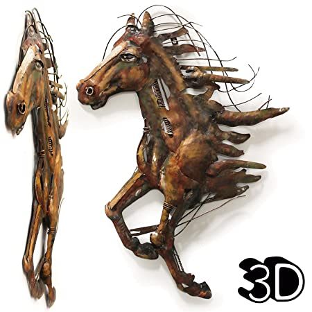 abstract horse d wall art iron metal sculpture artwork hanging