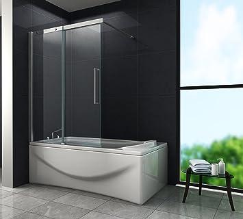Puerta Corredera – Doze – Mampara de ducha 120 x 150 (bañera): Amazon.es: Bricolaje y herramientas