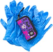 Gloves Travel case with 5 Pairs of Nitrile Gloves (Camo-Purple)