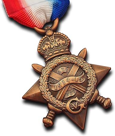 5 X Meters  Miniature 14//15 Star WW1 Medal Ribbon