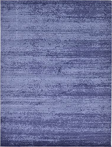 Unique Loom Del Mar Collection Contemporary Transitional Navy Blue Area Rug 9 0 x 12 0