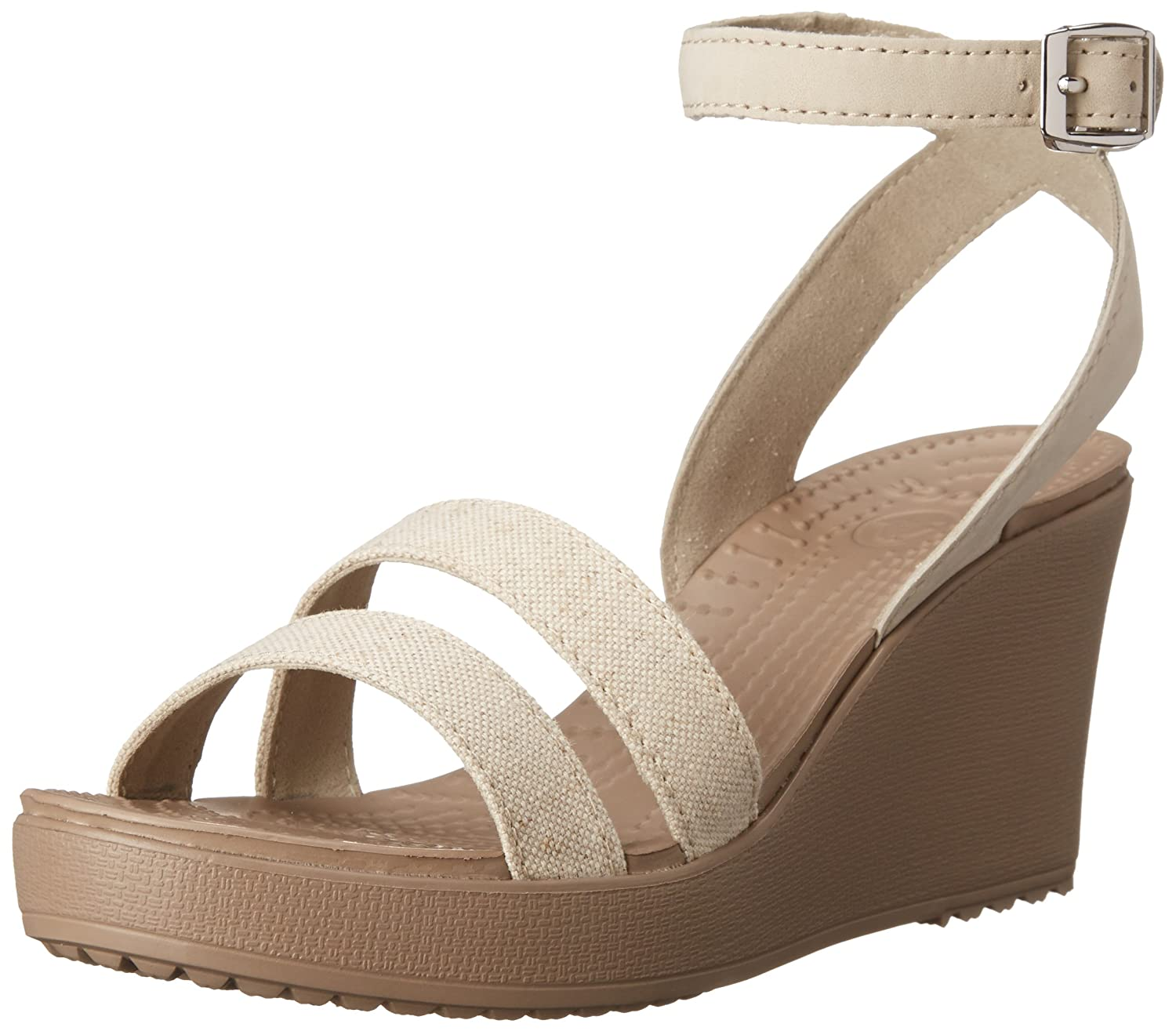 Crocs Leigh Wedge, 14413 Sandales Beige Sandales Femme Beige (Oatmeal/Mushroom) ae49393 - fast-weightloss-diet.space