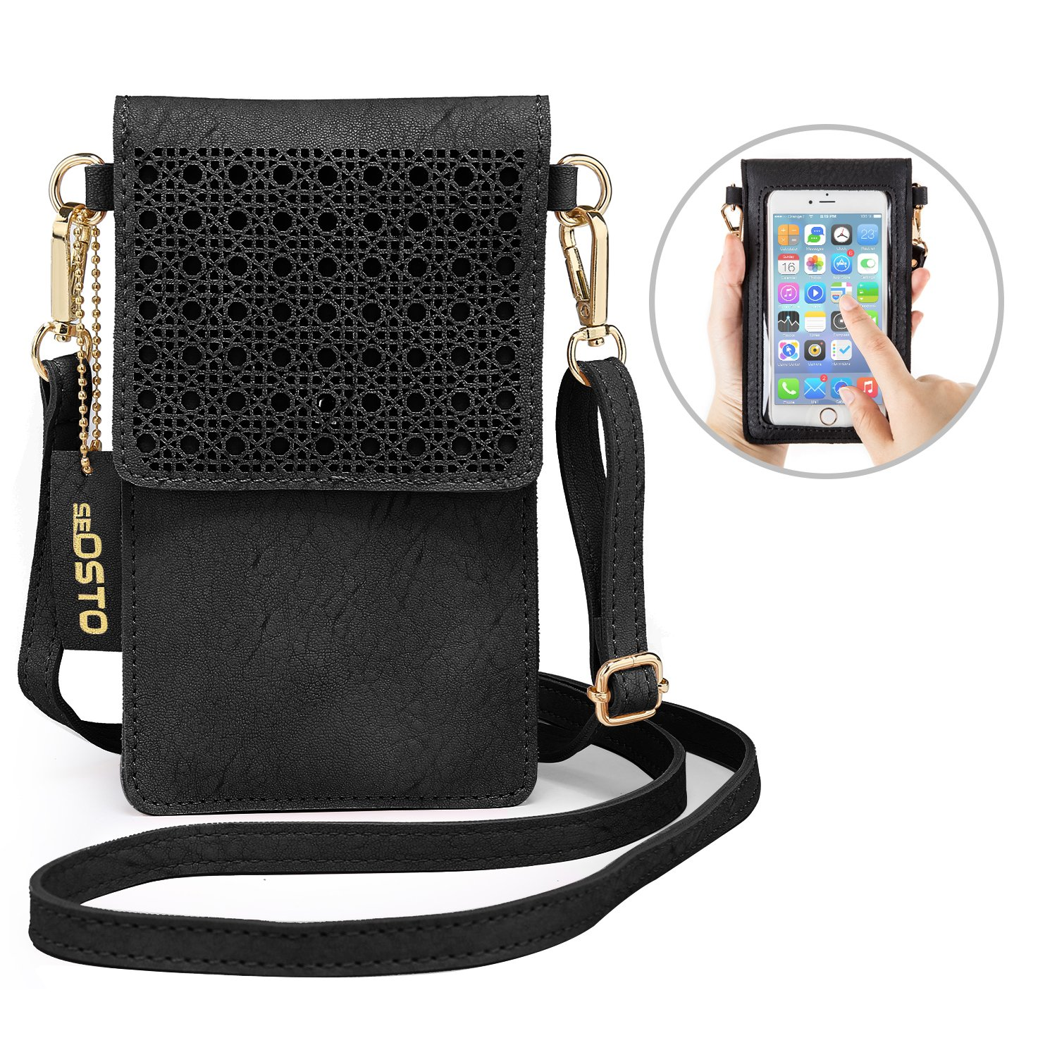 Details about seOSTO Small Crossbody Bag Cell Phone Purse Wallet with 2  Shoulder Strap Handbag 2cf78e5b4a69f