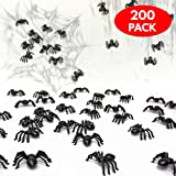 200 Scary Spiders - Perfect for Halloween Party Props, Decorations - Party Favours etc