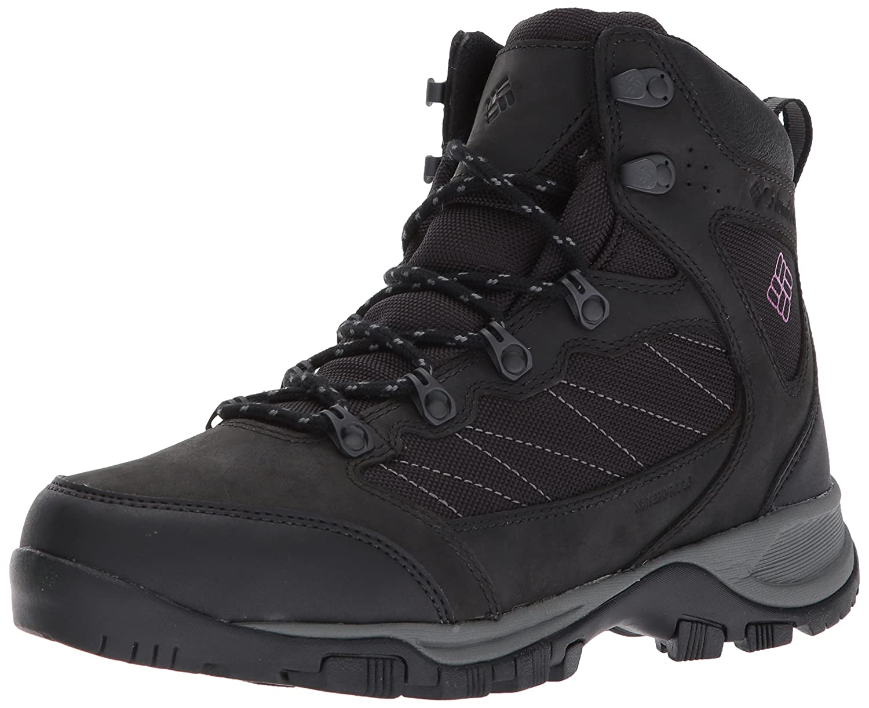 Columbia Women's Cascade Pass Waterproof Hiking Boot B01NBMP270 7 B(M) US|Black, Intense Violet