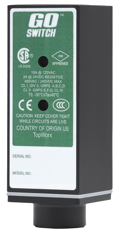 CL1 Div 2 Exp-Proof 1.5 x 1.5 x 4 10 mm Sensing Distance 10A//120VAC 1//2 NPT Conduit Terminal Limit Switch Style GO Switch 21-11510-00 CSA//FM