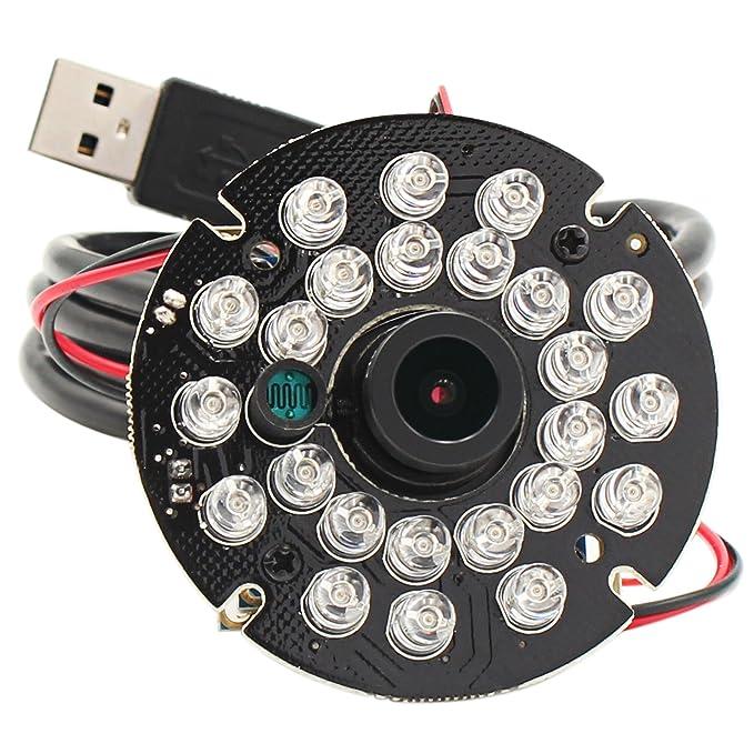ELP Nachtsichtkamera 1080P Webcam Mini Infrarot USB Kamera Modul für Videoüberwachung am Haus oder Industrie