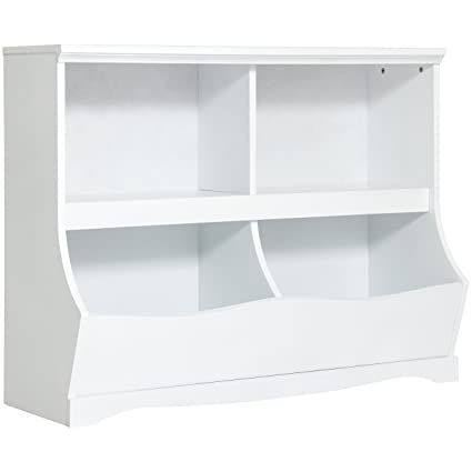 Best Choice Products Kids Bookcase Footboard Toy Storage- White  sc 1 st  Amazon.com : kids bookshelf and toy storage  - Aquiesqueretaro.Com