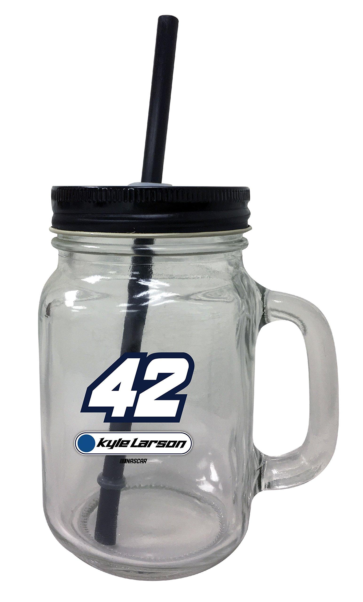 Kyle Larson #42 Mason Jar Glass Tumbler