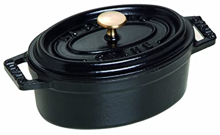 Kết quả hình ảnh cho STAUB - Cocotte Black - 11cm oval 1101125