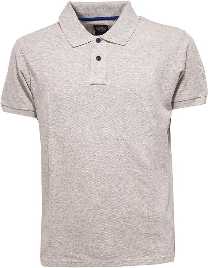 NORTH SAILS 3819X Polo uomo Maglia Grey Melange Polo t-Shirt ...