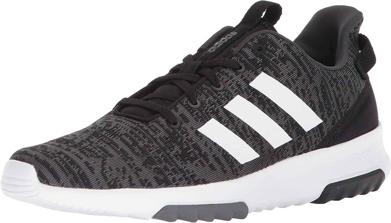 adidas Men s Cloudfoam Racer TR, core Black White Carbon, 10 M US