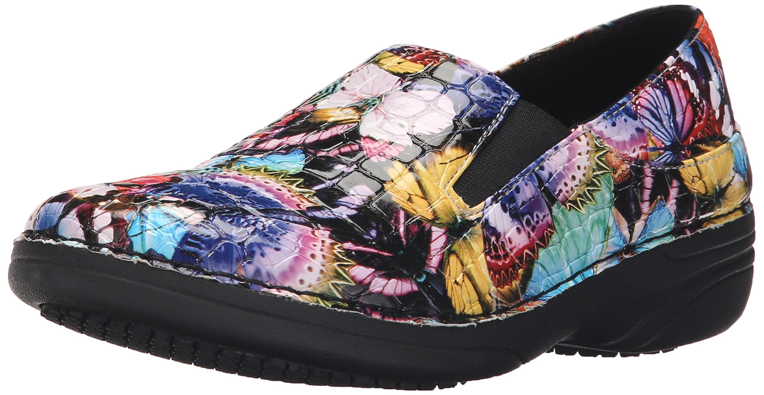 Spring Step Women's Ferrara Work Shoe, Blue/Multi Butterfly Crocodile, 7.5 M US