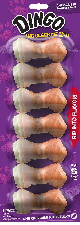 Dingo Indulgence Mini Bones Peanut Butter Flavor 7-Count