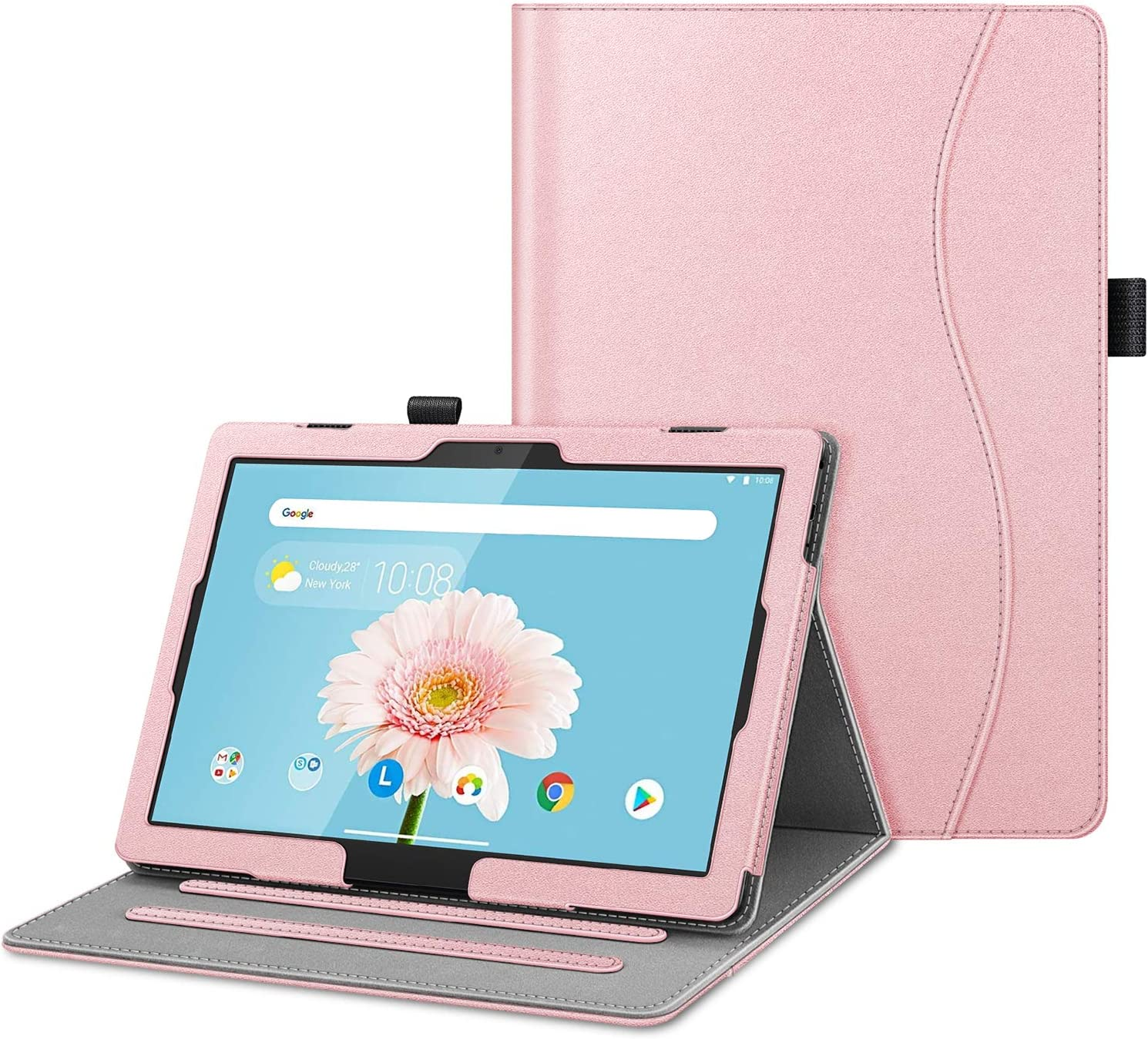 "Fintie Case for Lenovo Smart Tab M10 HD / P10 / M10, Multi-Angle Viewing Folio Cover w/Pocket, Auto Wake/Sleep for Lenovo Tab M10 HD TB-X505F/P10 TB-X705F TB-X705L / M10 TB-X605F 10.1"" Tablet"