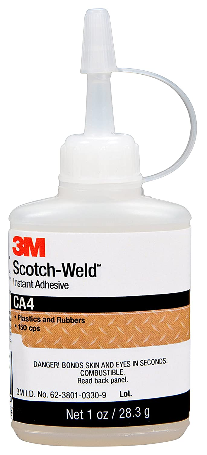 3M Scotch-Weld 96600 Instant Adhesive CA4, Clear, 1 fl. oz.