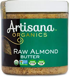 product image for Artisana Organics Non GMO Raw Almond Butter, 9 oz | No Sugar Added, Vegan Paleo and Keto Friendly