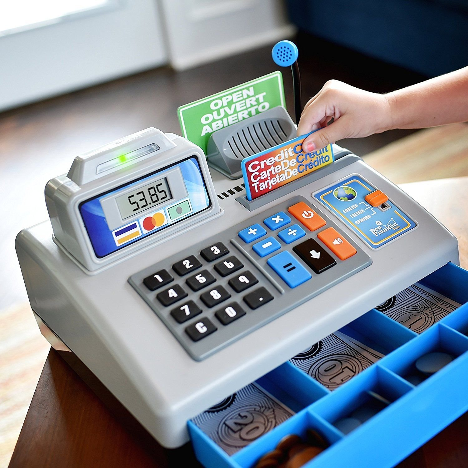 BFT Talking Cash Registerキットwith 3言語学習、ページングfor Ages 3 +再生ギフトアイデアから両親祖父母または BF554  シルバー/グレー B07DQLXYPS