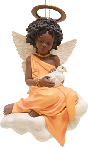 Thomas Blackshear Peace ON Earth 37054 Retired Vintage Ebony Visions Ornament Height 4.25 Available from Westwinn