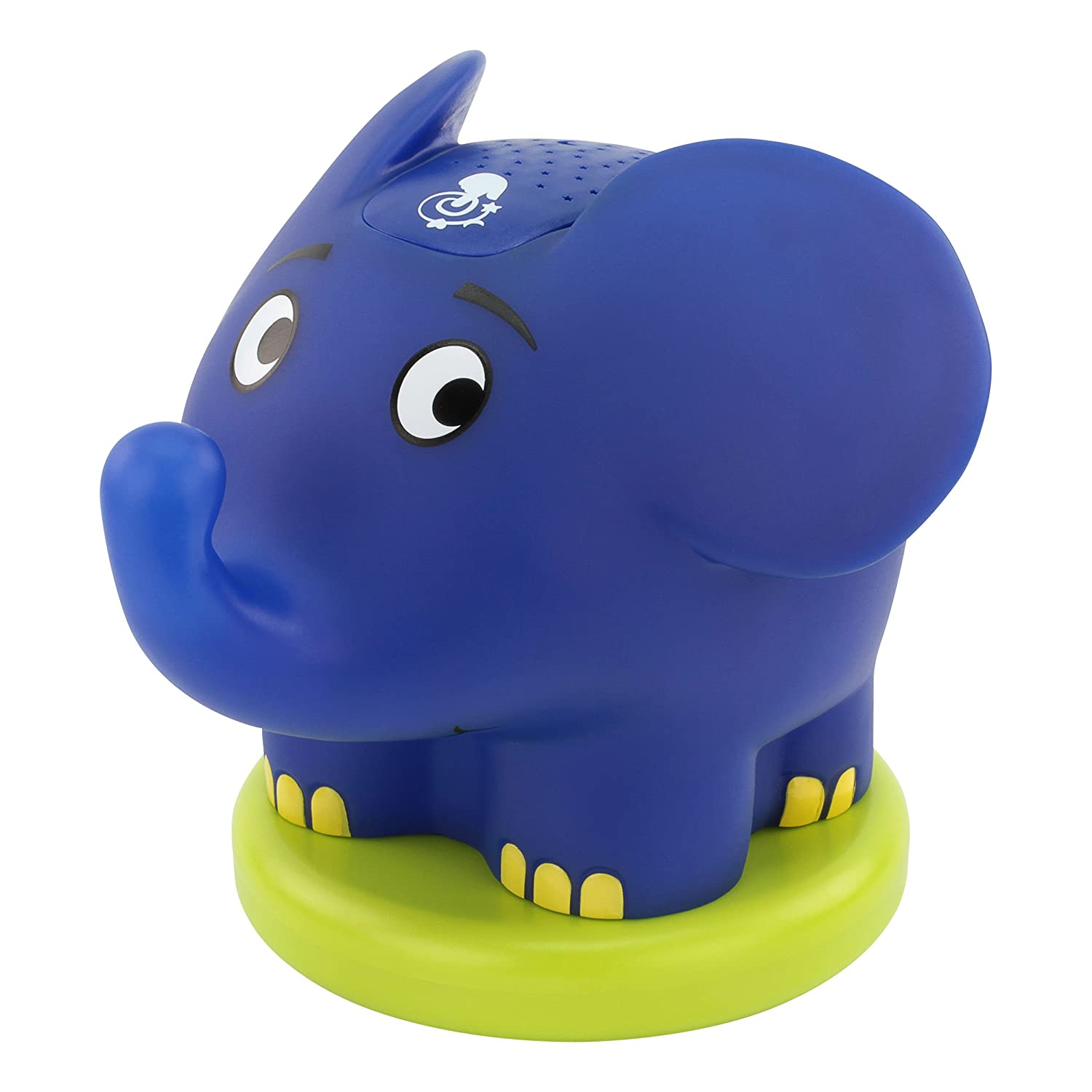 ANSMANN Starlight Elephant & Hare LED Night Light Star Projector Sleeping Aids for Children Babies Mood Light Energy Saving Orientation Light Automatic Colour Change, Plastic, Green 1800-0068