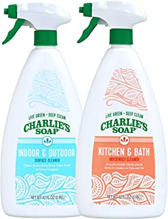 product image for Charlie's Soap Indoor Outdoor and Kitchen & Bath Cleaner Variety Pack, 32 oz Each