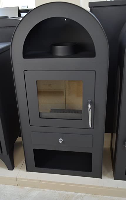 V05 Estufa de leña para quemar leña (12 kW), diseño de arco de