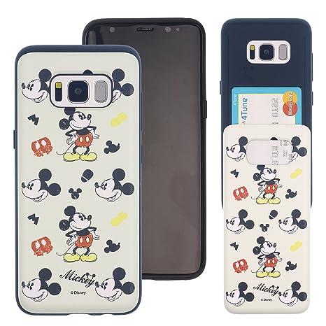 77795f1ec8 Galaxy S8 ケース Disney Mickey Mouse ディズニー ミッキーマウス カード スロット ダブル バンパー ケース/スマホケース