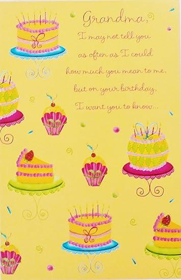 Amazon.com: Feliz cumpleaños abuela Tarjeta de felicitación ...